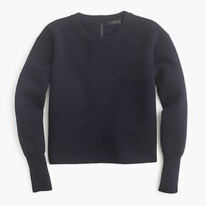 J. Crew navy merino wool sweater size M